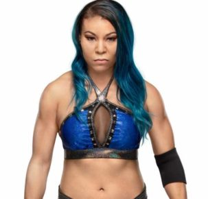 Stephanie Hym Bell, better known by her ring name Mia Yim, is an American professional wrestler currently signed to WWE, where she performs on the Raw brand as a member of the stable Retribution under the ring name Reckoning.